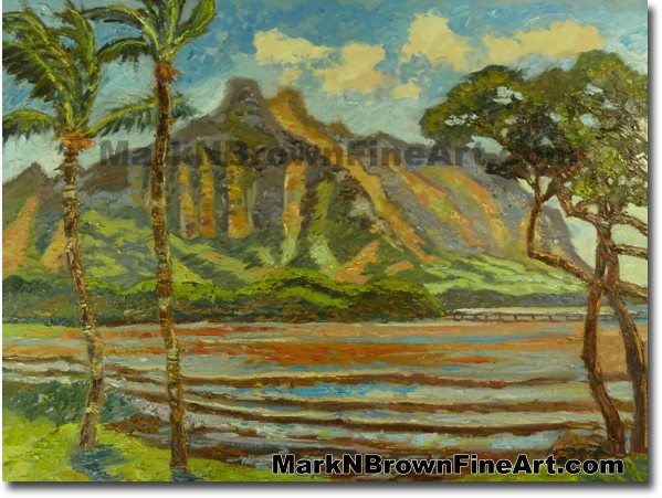 Waihole Valley | Hawaii Art by Hawaiian Artist Mark N. Brown | Plein Air Pa