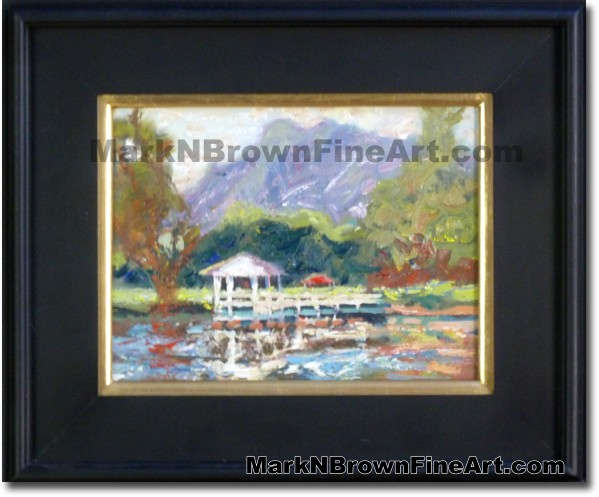 Haiku Gardens | Hawaii Art Painting by Hawaiian Artist Mark N. Brown | Plei