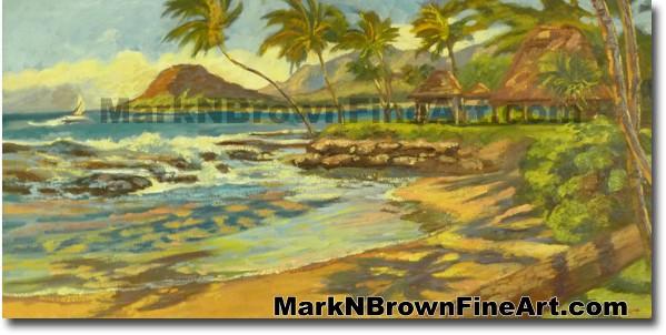 Lanikuhonua/ Ko'olina | Hawaii Art Paintingby Hawaiian Artist Mark N. Brown