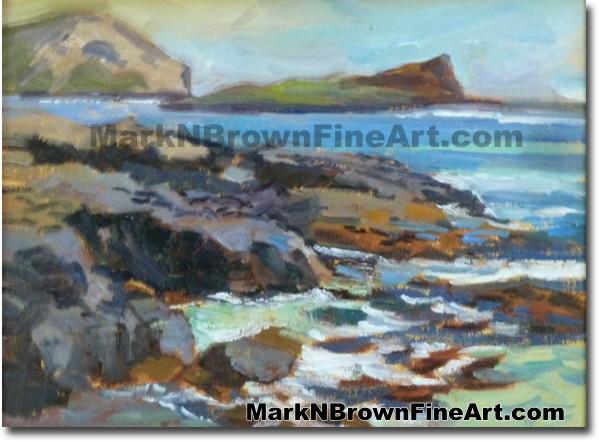 Rabbit Island | Hawaii Art Painting by Hawaiian Artist Mark N. Brown | Plei