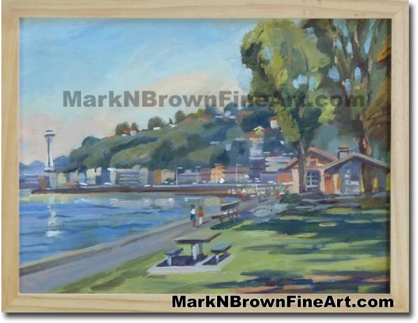 Alkai Beach/ Seattle | Hawaii Art by Painting Hawaiian Artist Mark N. Brown
