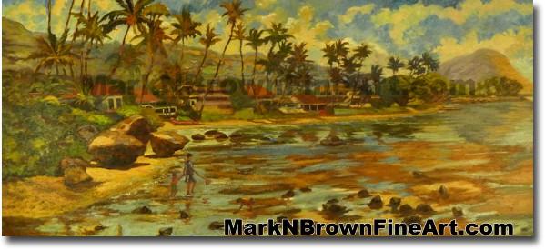 Pu'uikena Beach | Hawaii Art by Hawaiian Artist Mark N. Brown | Plein Air P