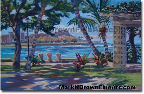 Kewalo Basin Shadows (Diamond Head From Kakaako Waterfront Park) | Hawaii A
