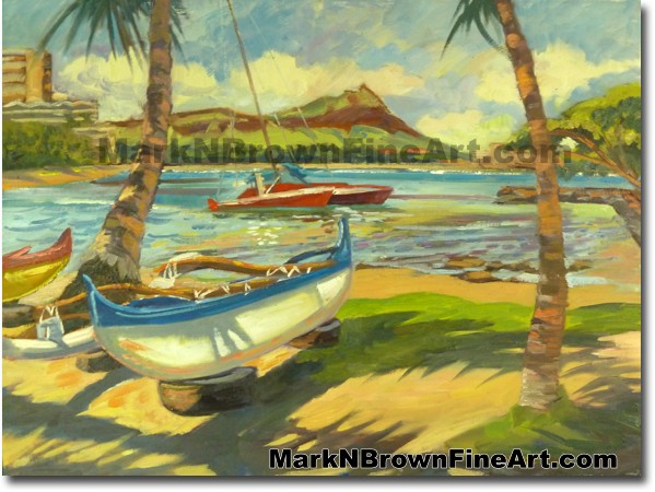 In The Shadows Of Diamond Head  | Hawaii Art by Hawaiian Artist Mark N. Bro
