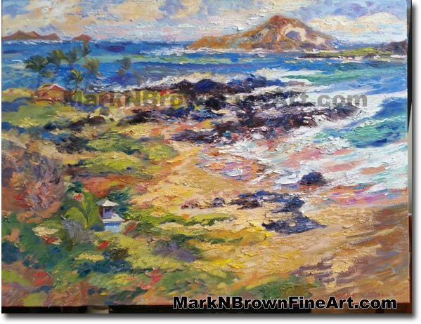 Hang Gliders View Of Makapu'u    Hawaii Art by Hawaiian Artist Mark N. Brow