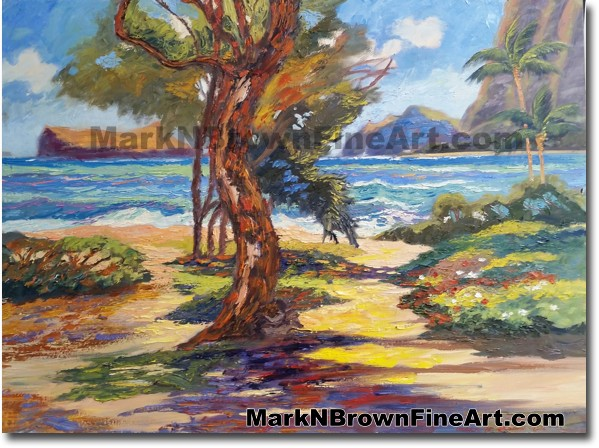 Broken Color Of Sherwoods | Hawaii Art by Hawaiian Artist Mark N. Brown | P