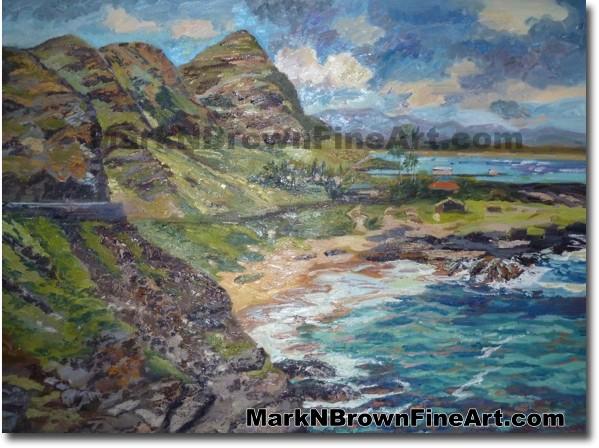 Into The Eye Of Makapu'u - Hawaii Art by Hawaiian Artist Mark N. Brown - Pl