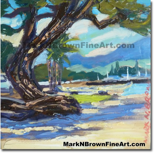 North Shore 2014 Miniature Hawaii Fine Art Image by Hawaii Artist Mark N. B