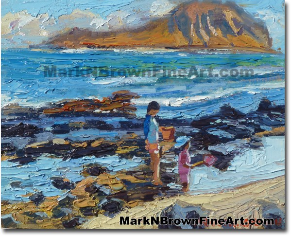 Tidepools 2014 Miniature Hawaii Fine Art Image by Hawaii Artist Mark N. Bro