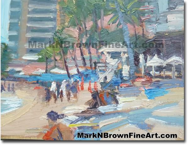 Waikiki Beach 2014 Miniature Hawaii Fine Art Image by Hawaii Artist Mark N.