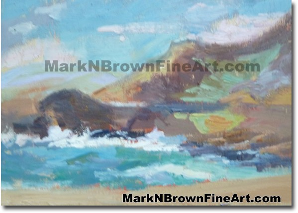 Halona Beach 2014 Miniature Hawaii Fine Art Image by Hawaii Artist Mark N.