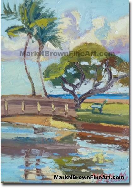 Kahala Beach 2014 Miniature Hawaii Fine Art Image by Hawaii Artist Mark N.