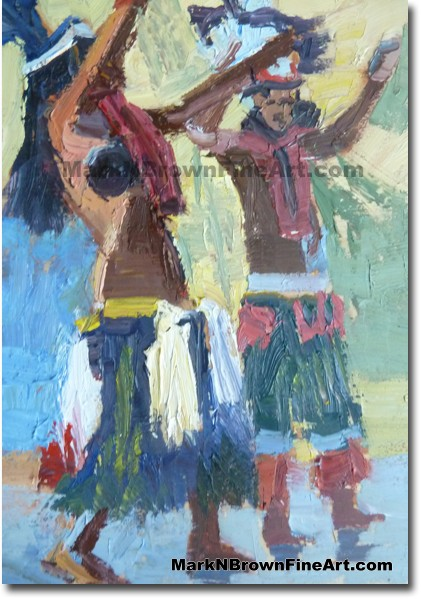 Tahitian Dancers 1 2014 Miniature Hawaii Art Image by Hawaii Artist Mark N.
