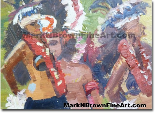 Tahitian Dancers 2 2014 Miniature Hawaii Fine Art Image by Hawaii Artist Ma