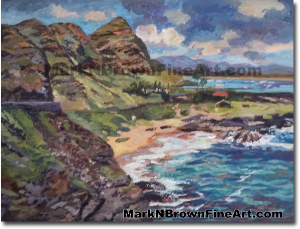 Makapu'u Beach Hawaii Fine Art by Hawaii Artist Mark N. Brown