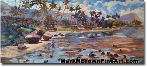 Pu'uikena beach Hawaii Fine Art by Hawaii Artist Mark N. Brown