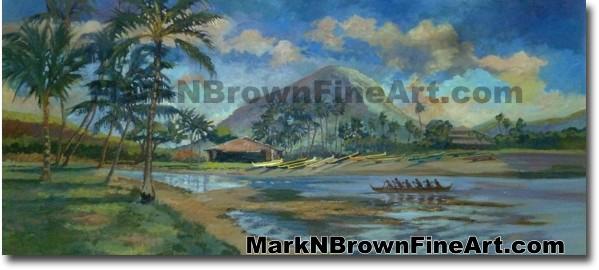 Kuliouou Hawaii Fine Art by Hawaii Artist Mark N. Brown