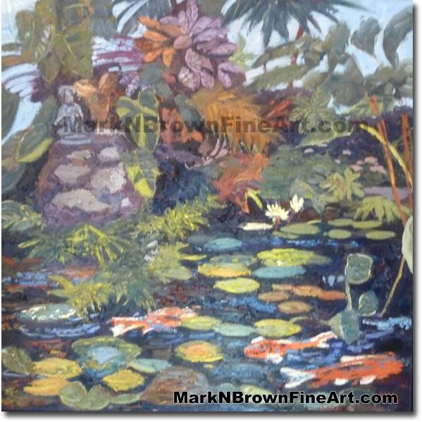 Kailuana, Kailua Lily Pond Hawaii Fine Art by Hawaii Artist Mark N. Brown