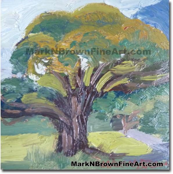 Tree Of Comfort Pali Cliff 2014 Miniature Hawaii Art Image - Hawaii Fine Ar