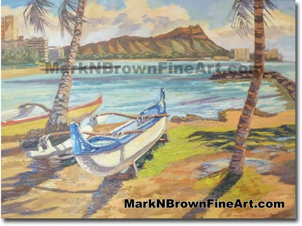 Kaiser Bowls Friday - Hawaii Fine Art by Hawaii Artist Mark N. Brown
