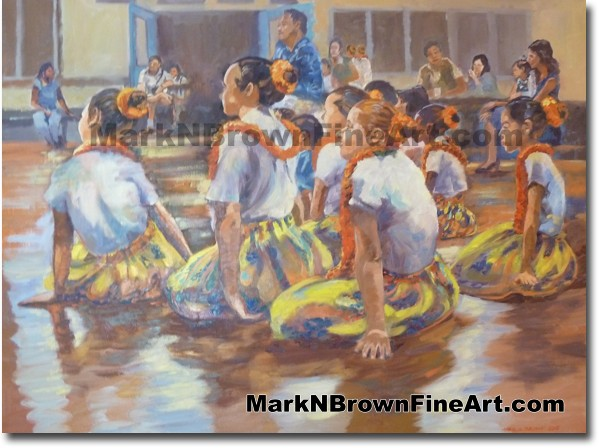 Hula Dancers #2 - Hawaii Fine Art by Hawaii Artist Mark N. Brown