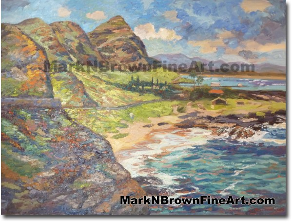 Colorful Cliffs Of Makapu'u - Hawaii Fine Art by Hawaii Artist Mark N. Brow
