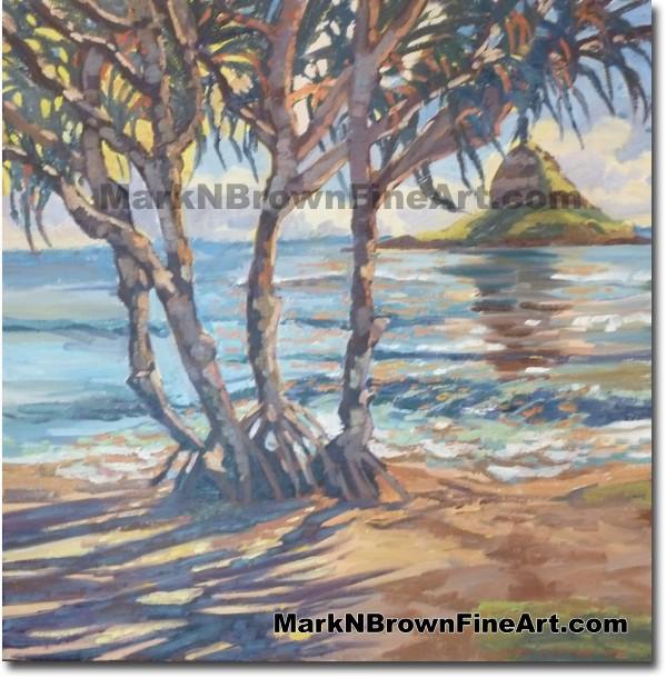 Hala Tree - Hawaii Fine Art by Hawaii Artist Mark N. Brown