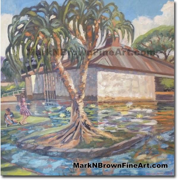 Punahou School Chapel - Hawaii Fine Art by Hawaii Artist Mark N. Brown