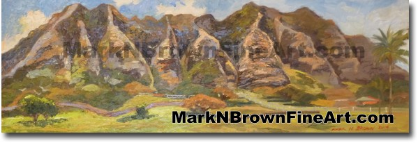 Kualoa Mountains - Hawaii Fine Art by Hawaii Artist Mark N. Brown