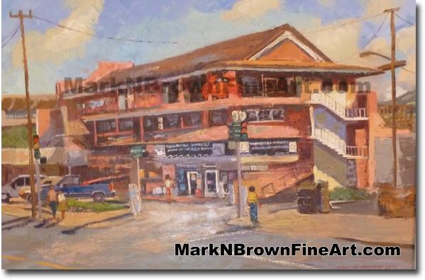 Tamashiro Market - Hawaii Fine Art by Hawaii Artist Mark N. Brown