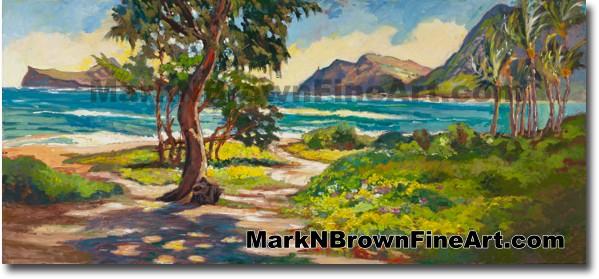 Sherwood Forest Waimanalo Bay 2 - Hawaii Fine Art by Hawaii Artist Mark N.