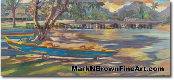 Sunset Over Kailua - Hawaii Fine Art by Hawaii Artist Mark N. Brown