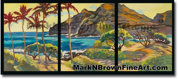 Makapu'u Triptych - Hawaii Fine Art by Hawaii Artist Mark N. Brown
