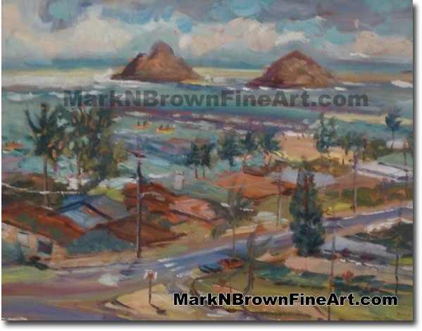 Use The Mokes To Guide You - Hawaii Fine Art by Hawaii Artist Mark N. Brown
