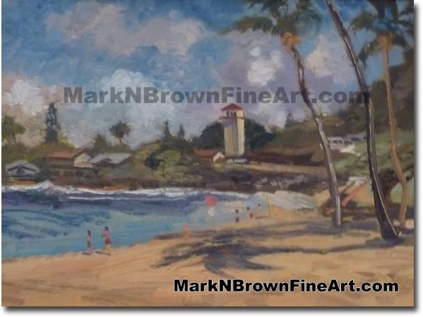 Waimea Bay - Hawaii Fine Art by Hawaii Artist Mark N. Brown