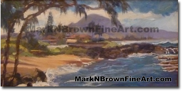 Three Tables - Hawaii Fine Art by Hawaii Artist Mark N. Brown