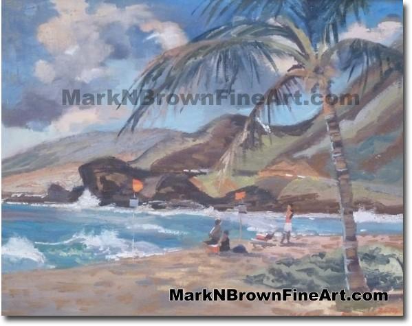 Sandy Beach / Blowhole - Hawaii Fine Art by Hawaii Artist Mark N. Brown