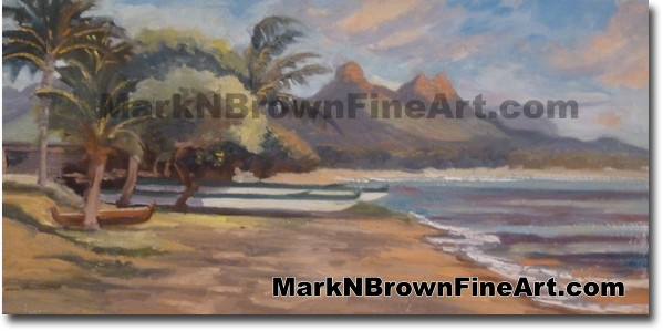 Waimanalo - Hawaii Fine Art by Hawaii Artist Mark N. Brown
