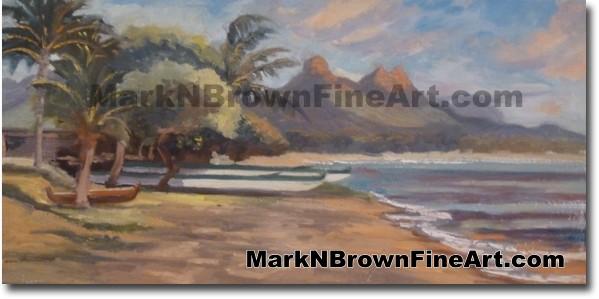 Waimanalo - Hawaii Fine Art by Hawaii Artist Mark N. Brown