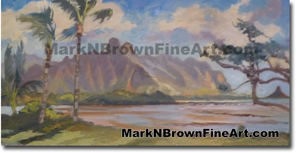 Regal Kualoa - Hawaii Fine Art by Hawaii Artist Mark N. Brown