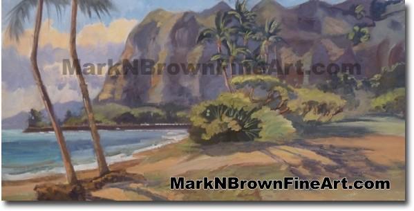Kaaawa Beach - Hawaii Fine Art by Hawaii Artist Mark N. Brown