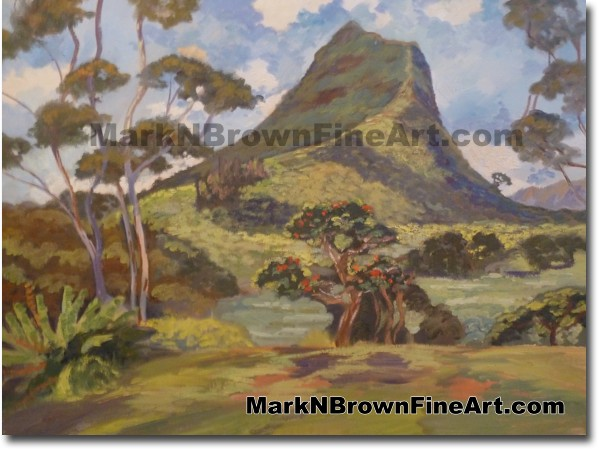 Olomana - Hawaii Fine Art by Hawaii Artist Mark N. Brown