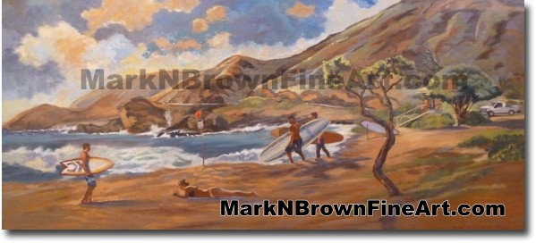 Olapa Sandy's - Hawaii Fine Art by Hawaii Artist Mark N. Brown
