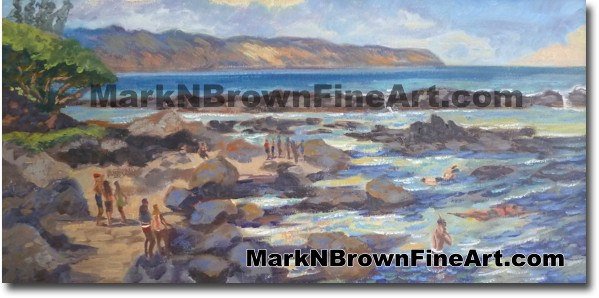 Sharks Cove - Hawaii Fine Art by Hawaii Artist Mark N. Brown