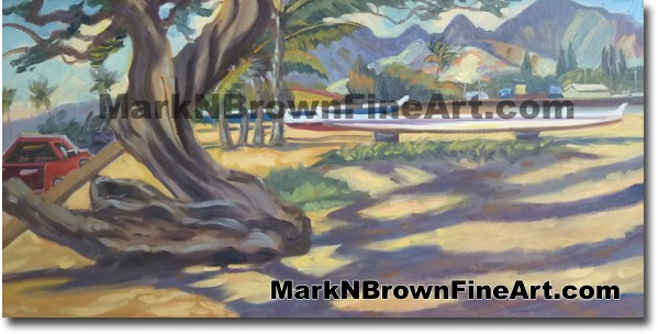 North Shore Kiawe - Hawaii Fine Art by Hawaii Artist Mark N. Brown