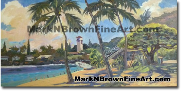 Waimea Bay - Hawaii Fine Art by Hawaii Artist Mark N. Brown