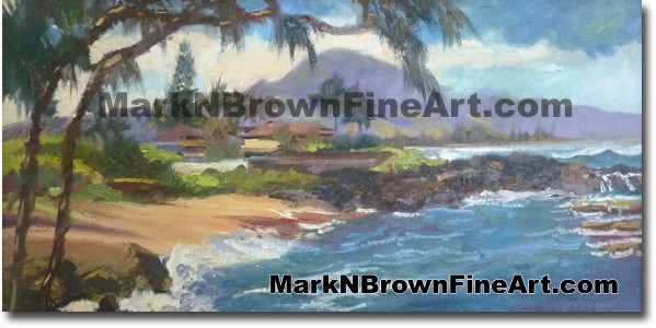 Three Tables - Hawaii Fine Art by Hawaii Artist Mark N. Brown