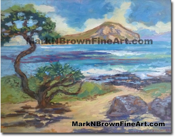 Showtime At Baby Makapu'u - Hawaii Fine Art by Hawaii Artist Mark N. Brown