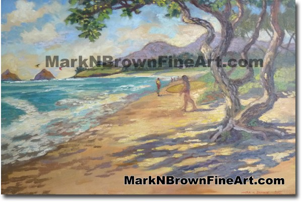 Kalama Beach - Hawaii Fine Art by Hawaii Artist Mark N. Brown