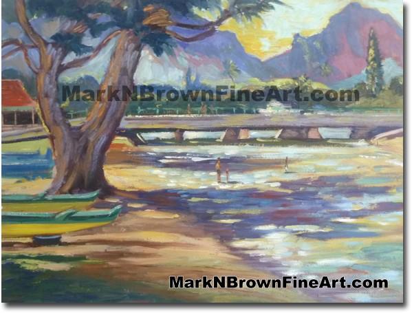Looking Towards The Pali - Hawaii Fine Art by Hawaii Artist Mark N. Brown